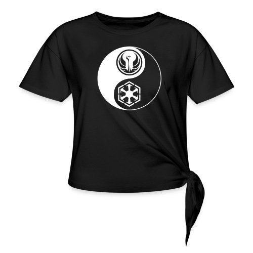 Star Wars SWTOR Yin Yang 1-Color Light - Women's Knotted T-Shirt