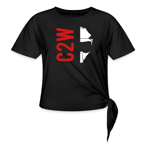 ChaseOnTwoWheels Split Logo - Women's Knotted T-Shirt
