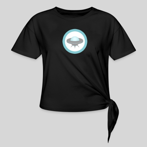 ALIENS WITH WIGS - Small UFO - Women's Knotted T-Shirt