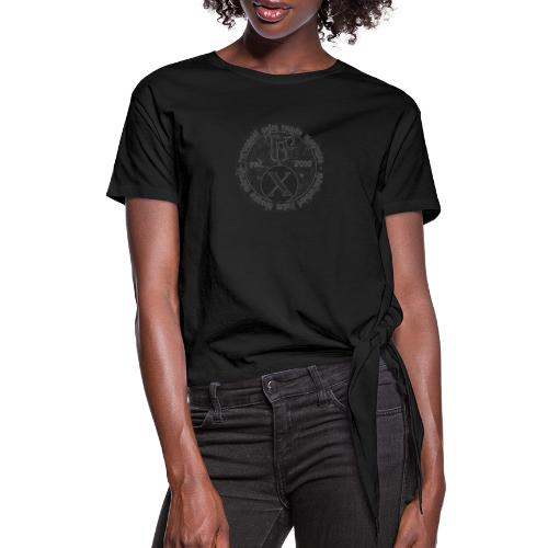TCF 10th Anniversary (Grey) - Women's Knotted T-Shirt