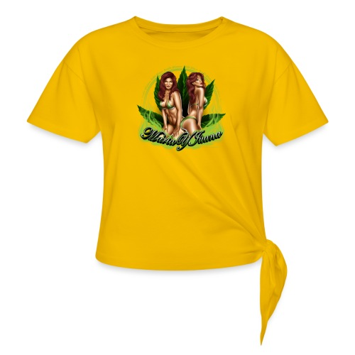 Maria y Juana by RollinLow - Women's Knotted T-Shirt
