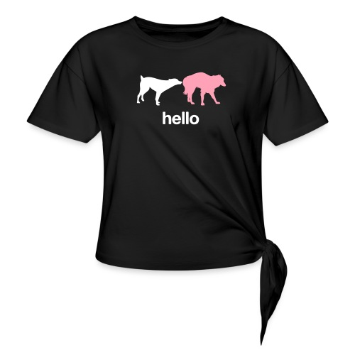 Hello - Women's Knotted T-Shirt