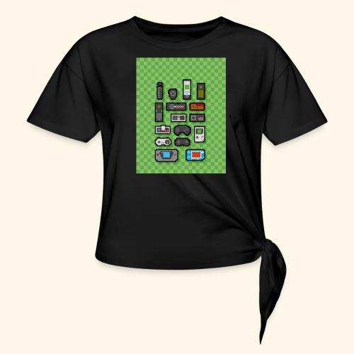 controller handy - Women's Knotted T-Shirt