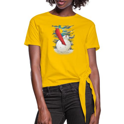 the accident - Women's Knotted T-Shirt