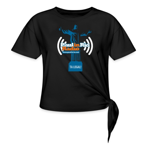 Paul in Rio Radio - The Thumbs up Corcovado #2 - Women's Knotted T-Shirt