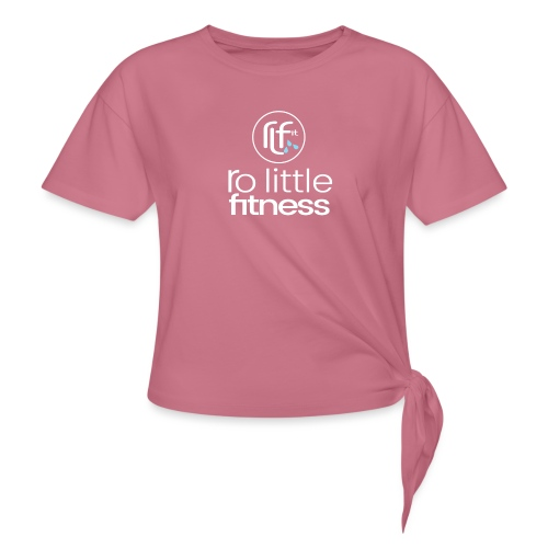Ro Little Fitness - outline logo - Women's Knotted T-Shirt
