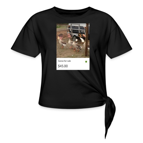 the___gaggle - Women's Knotted T-Shirt