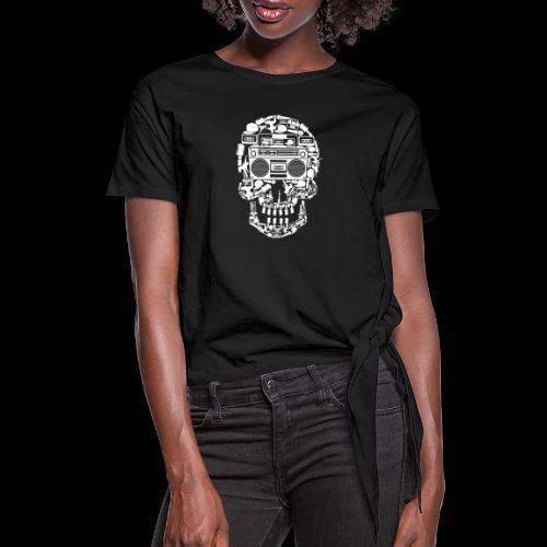 Audio Skull - Women's Knotted T-Shirt