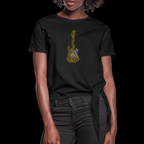 Electric Guitar | Music Rocks - Women's Knotted T-Shirt