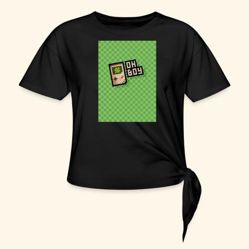 oh boy handy - Women's Knotted T-Shirt