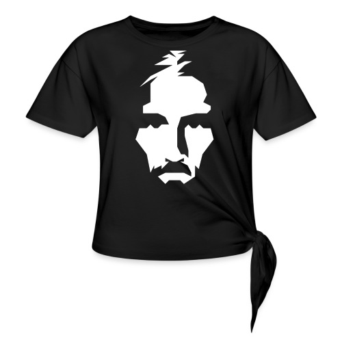 JESUS TSHIRT WHITE - Women's Knotted T-Shirt