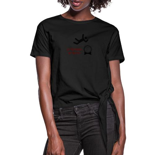 Let The Bodies Hit The Flor - Women's Knotted T-Shirt