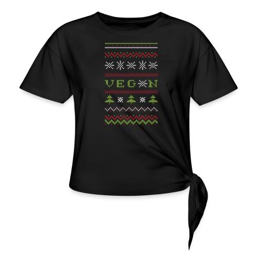 Veg*n Ugly Sweater Women's Wideneck Sweatshirt - Women's Knotted T-Shirt