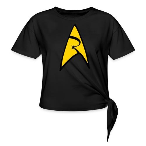 Emblem - Women's Knotted T-Shirt