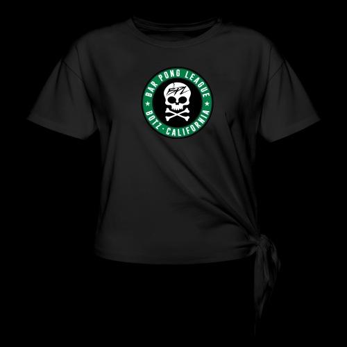 Bar Pong Badge Logo - Women's Knotted T-Shirt