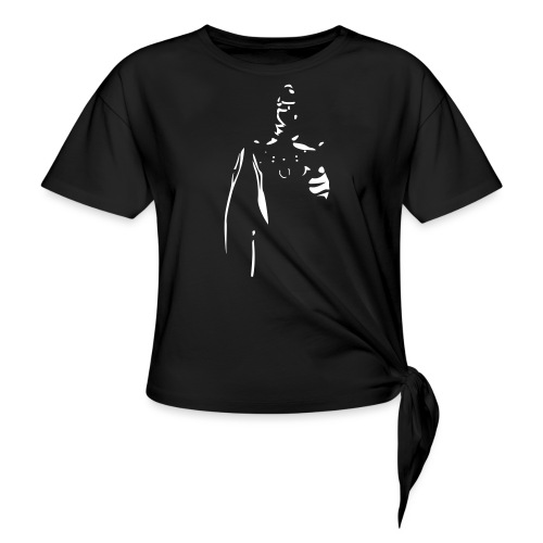 Rubber Man Wants You! - Women's Knotted T-Shirt