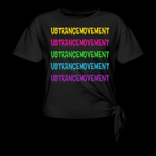 US TRANCE MOVEMENT DRIP - Women's Knotted T-Shirt