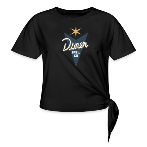 Diner Brew Company - Women's Knotted T-Shirt