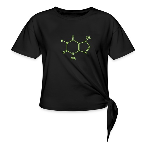 Chocolate (Theobromine) Molecule - Women's Knotted T-Shirt
