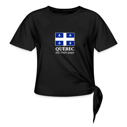 Québec est mon pays - Women's Knotted T-Shirt