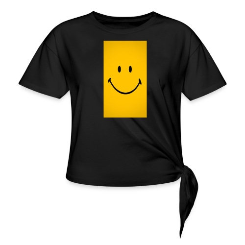 Smiley face - Women's Knotted T-Shirt