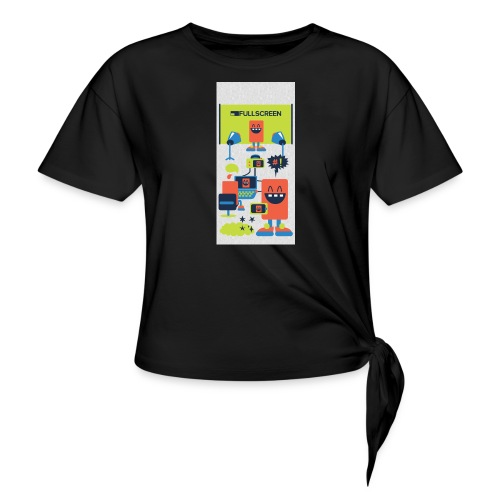 iphone5screenbots - Women's Knotted T-Shirt