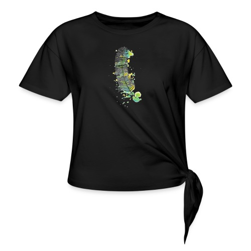 Geometric Feather - Women's Knotted T-Shirt
