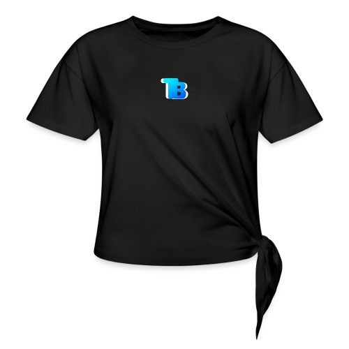 Trublu Overlapping letter Design - Women's Knotted T-Shirt