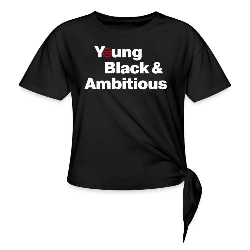 YBA Black Shirt2 - Women's Knotted T-Shirt