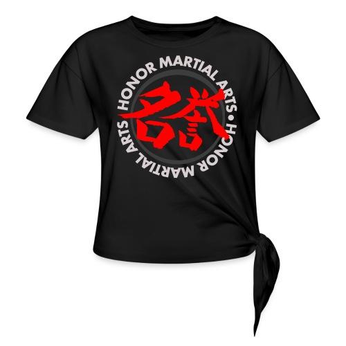 Honor Martial Arts Kanji Design Light Shirts - Women's Knotted T-Shirt