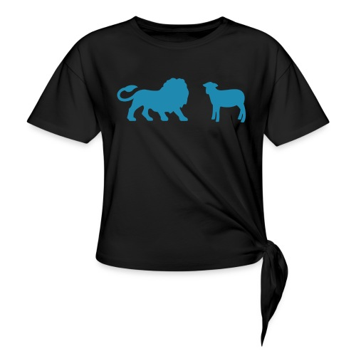 Lion and the Lamb - Women's Knotted T-Shirt
