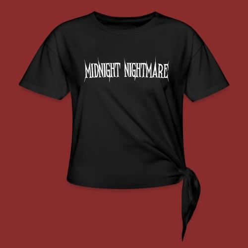 Midnight Nightmare Logo-w - Women's Knotted T-Shirt