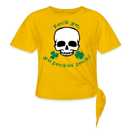 feckinfeck - Women's Knotted T-Shirt