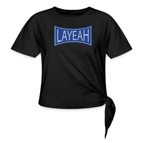 White LaYeah Shirts - Women's Knotted T-Shirt