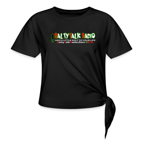 str front png - Women's Knotted T-Shirt