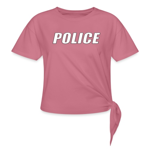 Police White - Women's Knotted T-Shirt