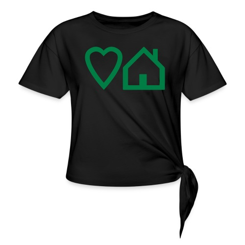 ts-3-love-house-music - Women's Knotted T-Shirt