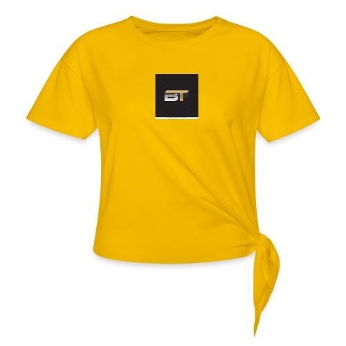BT logo golden - Women's Knotted T-Shirt