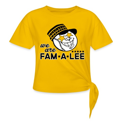 We Are Fam A Lee - Women's Knotted T-Shirt