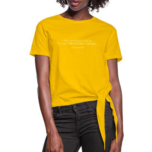 Traveling Shoes - Women's Knotted T-Shirt