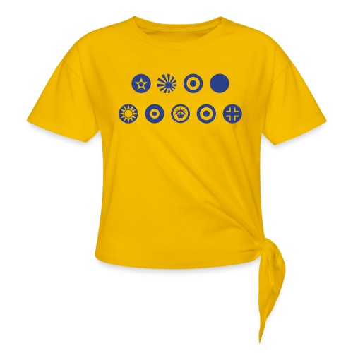 Axis & Allies Country Symbols - One Color - Women's Knotted T-Shirt
