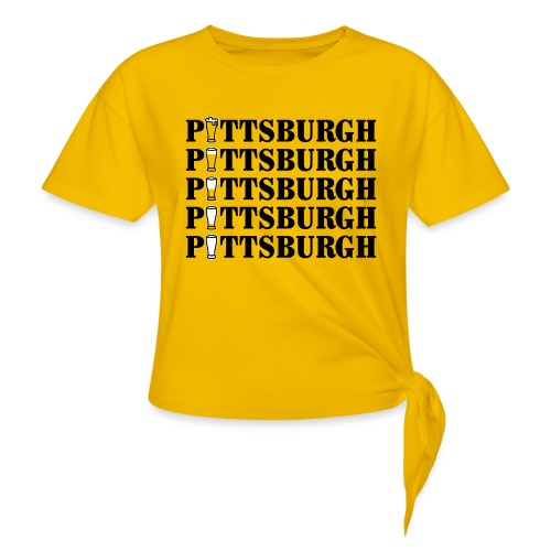Beer in Pittsburgh - Women's Knotted T-Shirt