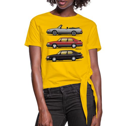 Saab 900 Turbo Trio - Women's Knotted T-Shirt