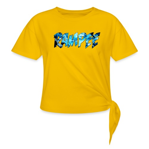 Blue Ice - Women's Knotted T-Shirt