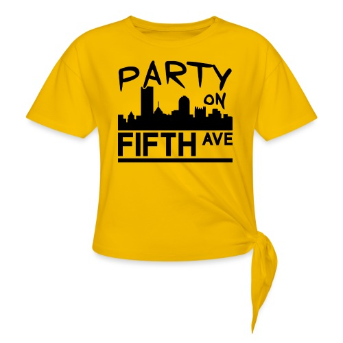 Party on Fifth Ave - Women's Knotted T-Shirt
