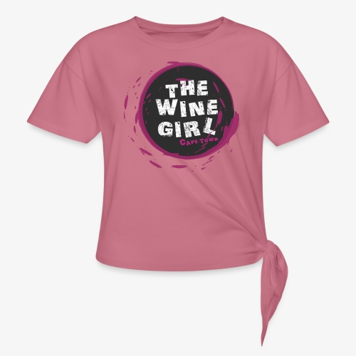 The Wine Girl - Women's Knotted T-Shirt