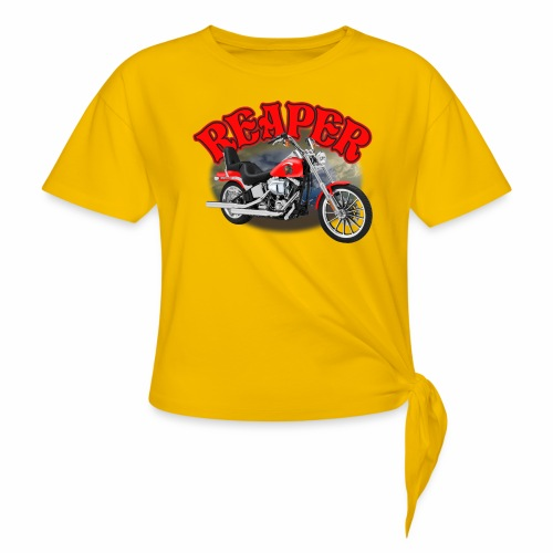 Motorcycle Reaper - Women's Knotted T-Shirt