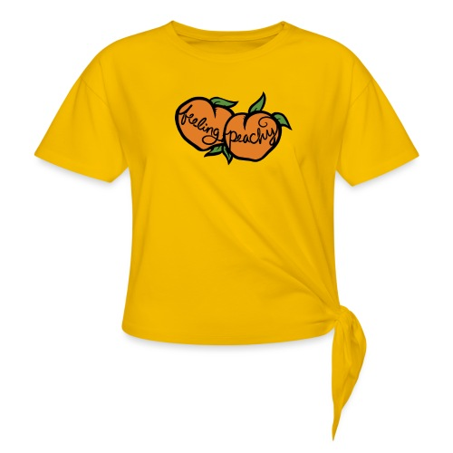 Feeling peachy - Women's Knotted T-Shirt