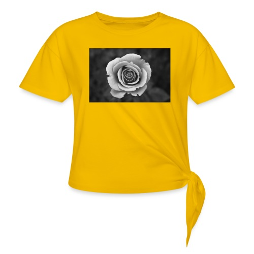 dark rose - Women's Knotted T-Shirt