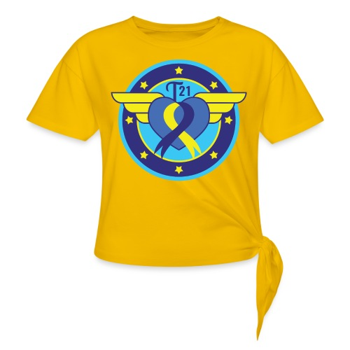 Down syndrome Hero - Women's Knotted T-Shirt